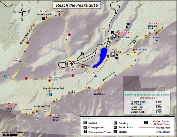 Reach the Peaks 2015 Trail Map