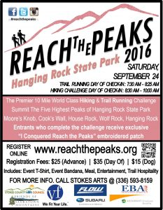 Reach The Peaks 2016 Flyer